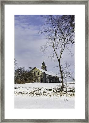 Yellow Trimmed Barn Framed Print