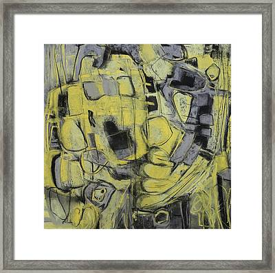Yellow Trip Framed Print by Katie Black