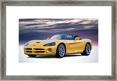 Yellow Viper Convertible Framed Print by Douglas Pittman