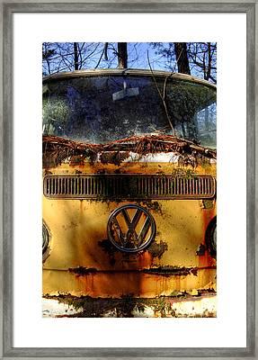 Yellow Vw Framed Print by Greg Mimbs