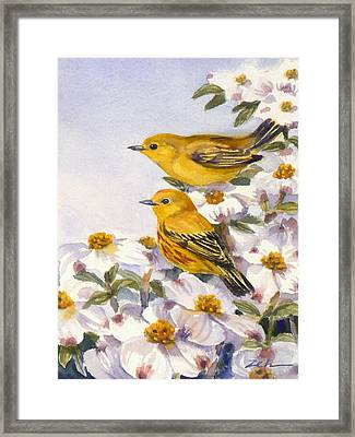 Yellow Warblers Framed Print
