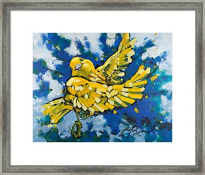 Yellow Warbler's Joy Framed Print