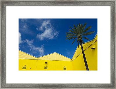 Yellow Warehouse Framed Print