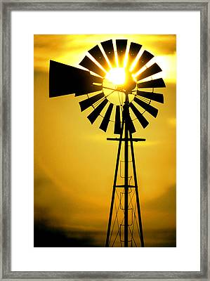 Yellow Wind Framed Print by Jerry McElroy