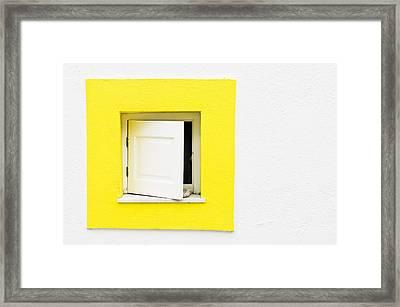 Yellow Window Framed Print