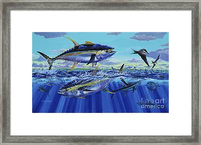 Yellowfin Bust Off0083 Framed Print by Carey Chen