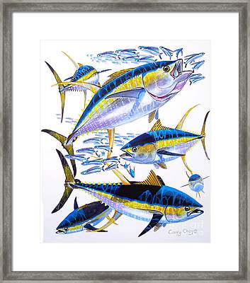 Yellowfin Run Framed Print by Carey Chen