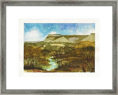 Yellowhouse Canyon Framed Print