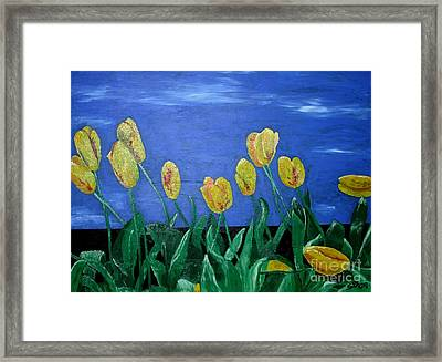 Yellowred Tulips Framed Print