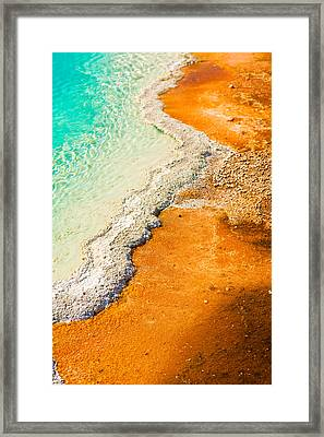 Yellowstone Abstract Framed Print by Sebastian Musial