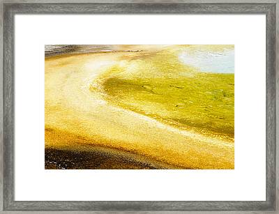 Yellowstone Abstract Spring 2 Framed Print by Andy-Kim Moeller