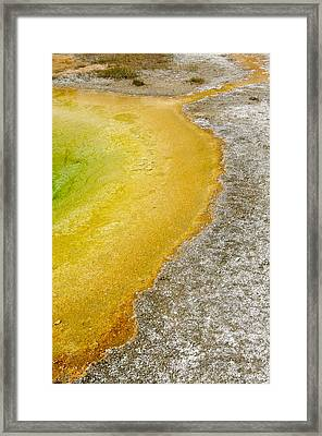 Yellowstone Abstract Spring Framed Print by Andy-Kim Moeller