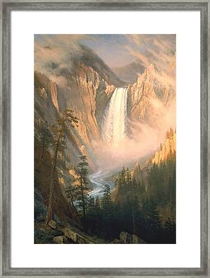 Yellowstone Framed Print by Albert Bierstadt