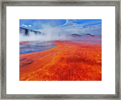 Yellowstone Basin Framed Print by Benjamin Yeager
