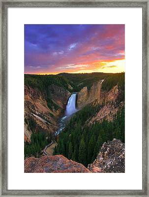Framed Print featuring the photograph Yellowstone Beauty by Kadek Susanto