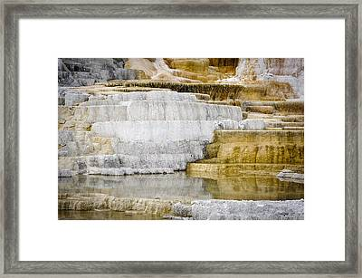 Yellowstone Calcite No 1 Framed Print by Andy-Kim Moeller