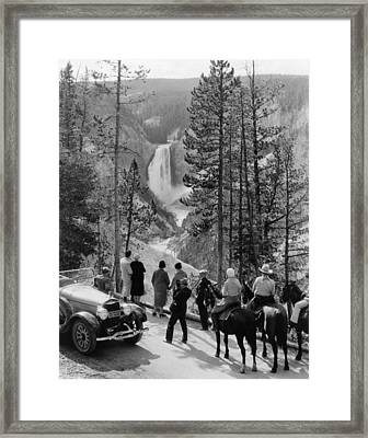 Yellowstone Canyon, C1932 Framed Print by Granger
