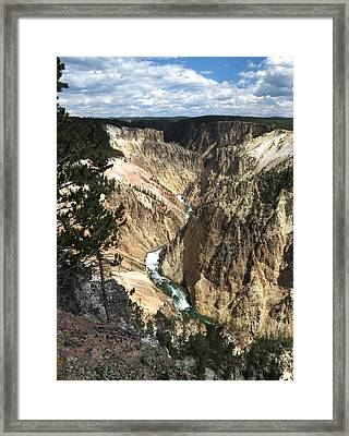 Framed Print featuring the photograph Yellowstone Canyon by Laurel Powell