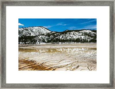Yellowstone Crackle Framed Print