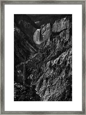 Yellowstone Falls Framed Print by Andrew Soundarajan