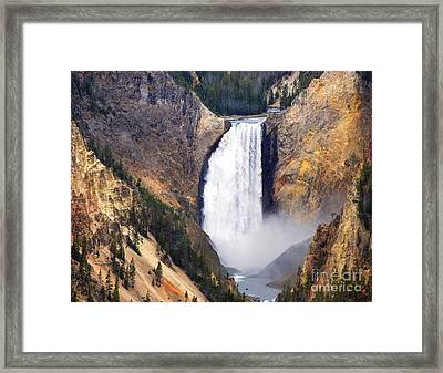 Yellowstone Falls Framed Print by Robert Kleppin