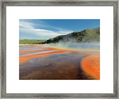 Yellowstone Geyser Framed Print by Mountain Dreams