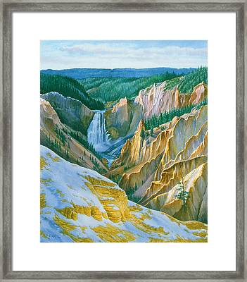 Yellowstone Grand Canyon - November Framed Print by Paul Krapf
