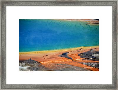Yellowstone Grand Prismatic Colors Framed Print by Debra Thompson