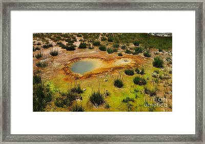 Yellowstone Hot Pool Framed Print