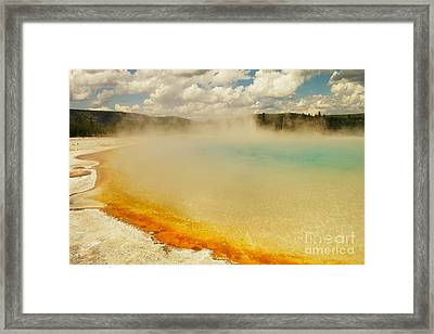Yellowstone Hot Springs Framed Print by Jeff Swan