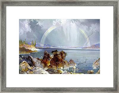 Yellowstone Lake 1875 Framed Print by Unknown