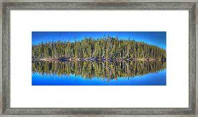 Yellowstone Lake Reflection Framed Print