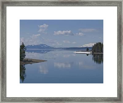 Yellowstone Lake Framed Print by SEA Art