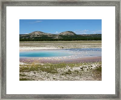 Framed Print featuring the photograph Yellowstone Landscape by Laurel Powell