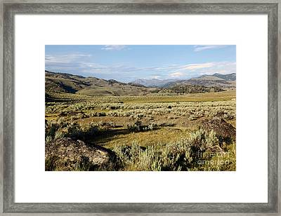 Yellowstone Landscape Framed Print by Sophie Vigneault