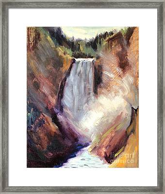 Yellowstone Lower Falls - 1939 Framed Print