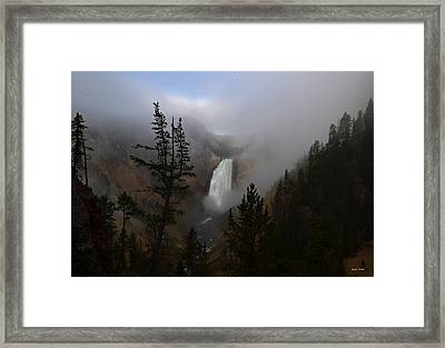 Yellowstone - Lower Falls At Sunrise Framed Print