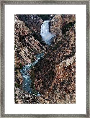 Yellowstone Lower Falls Framed Print