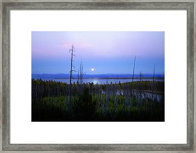 Yellowstone Moon Framed Print