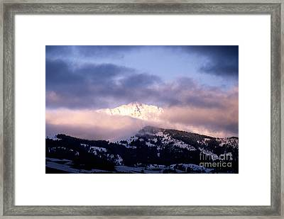 Yellowstone Morning Framed Print by Sharon Elliott