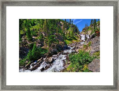 Yellowstone Mystic Falls Framed Print by Greg Norrell