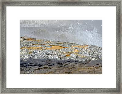 Yellowstone National Park's Jewel Geyser Framed Print by Bruce Gourley