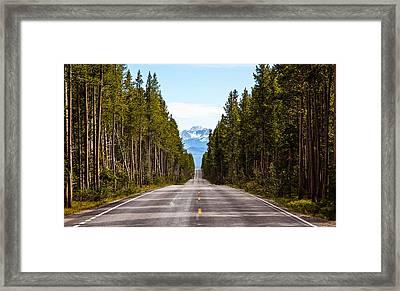 Yellowstone Open Road Framed Print by Adam Pender