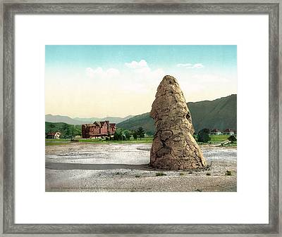 Yellowstone Park Hot Spring Framed Print by Granger