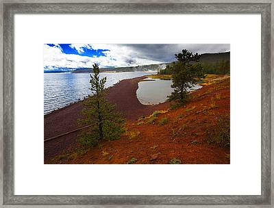Yellowstone Park Usa Framed Print by Richard Wiggins