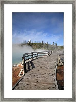 Yellowstone Park - West Thumb Geyser Basin Framed Print by Frank Romeo
