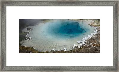 Yellowstone Pool Framed Print by David Yack