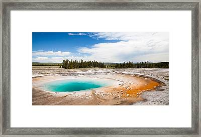 Yellowstone Prismatic Spring Framed Print by Adam Pender