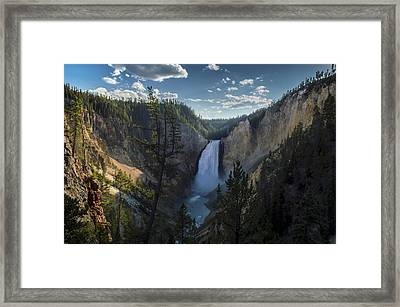 Yellowstone River Lower Falls Framed Print