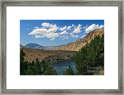 Framed Print featuring the photograph Yellowstone River Overlook by Charles Kozierok